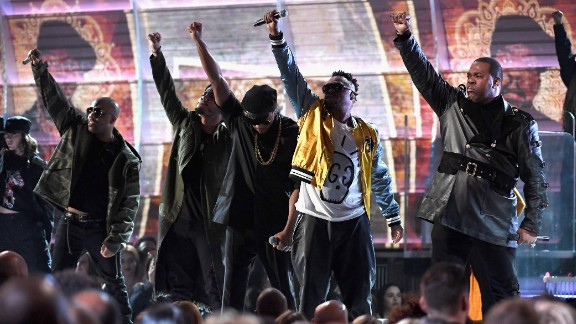 A Tribe Called Quest performs onstage during The 59th GRAMMY Awards at STAPLES Center on February 12, 2017 in Los Angeles, California.