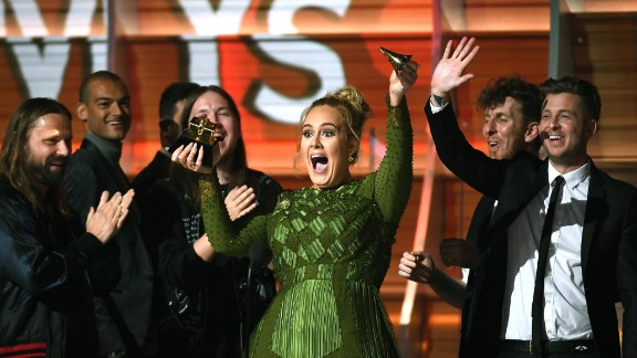 Adele, winner of Album of the Year for