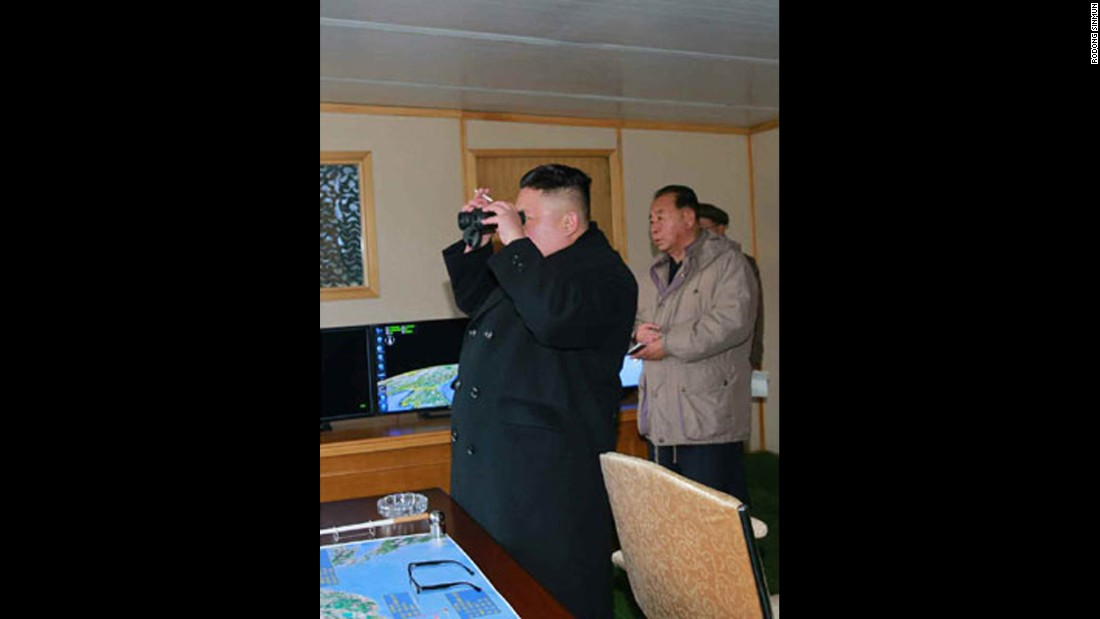 Kim supervised the launch, according to state media.