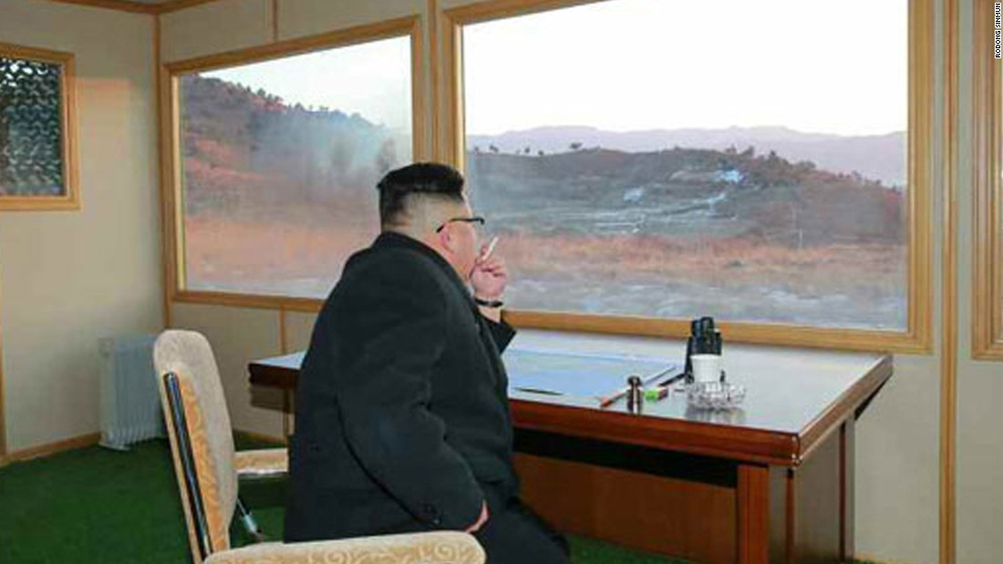 Kim was present at the site and personally gave the order for the launch, state media reported.