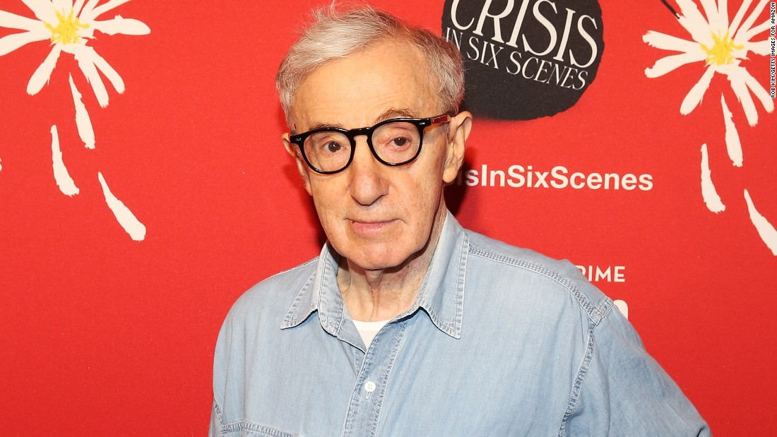 Director Woody Allen is about 65 years older than his youngest daughter,  Manzie, whom