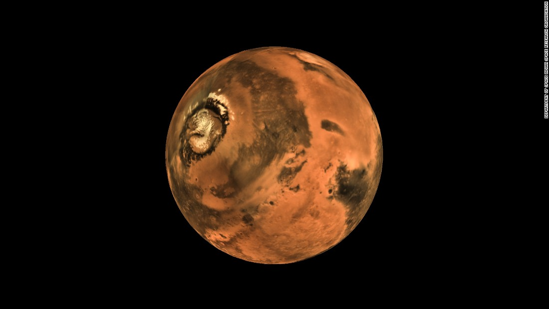 The Indian Space Research Organization, India's space agency, has released pictures from the camera Mars onboard the Mangalyaan Mars Orbiter Spacecraft.