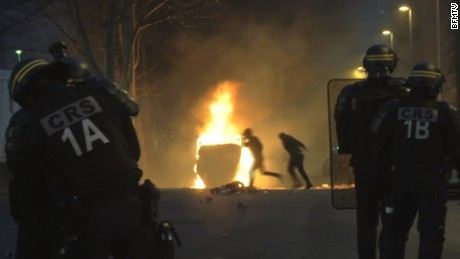 French protests turn violent over alleged rape