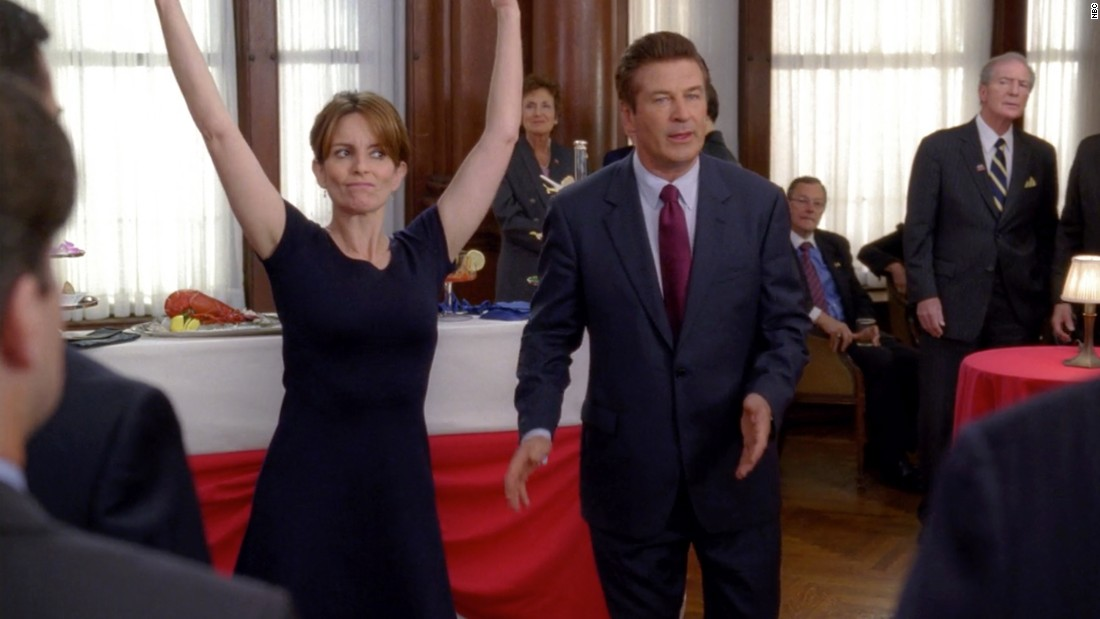 """30 Rock"" tapped into what was in vogue in the 2000s -- a mockumentary-style production, a nose-crinkling amount of awkwardness in the workplace -- and raised the stakes by transferring the storytelling power from lead male characters to a leading woman. Tina Fey's Liz Lemon became a comedic character for the ages."