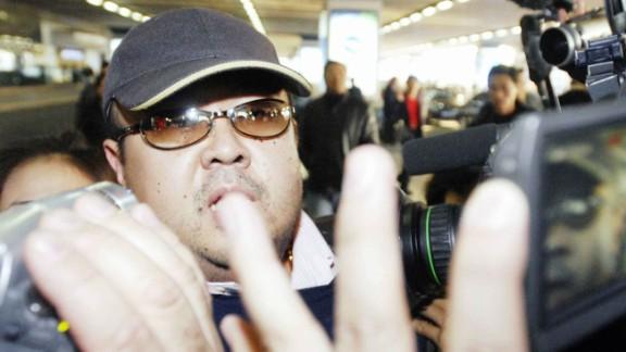 Kim Jong Nam seen arriving at the Beijing International Airport in 2007