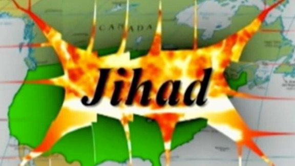 A screen grab from a Terrorism Awareness Project video.