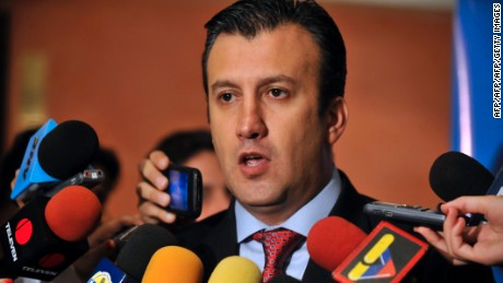 "Venezuela's Interior and Justice Minister, Tareck El Aissami talks to the press in Caracas on November 10, 2011. The Venezuelan police has found the van employed by the gunmen who kidnapped on Wednesday baseball player Wilson Ramos, catcher of the Washington Nationals Major League America, said Mr. El Aissami, promising to rescue him ""safe and sound"".  AFP  PHOTO/Leo RAMIREZ (Photo credit should read LEO RAMIREZ/AFP/Getty Images)"