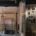 Rue La Rue Café before and after wall