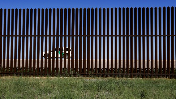Fence along the U.S.-Mexico border in Brownsville, Texas.