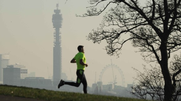 LONDON, ENGLAND - JANUARY 24:  A view of the London skyline from Primrose Hill on January 24, 2017 in London, England. The Mayor of London Sadiq Khan has announced that a toxic air alert has been issued for London after 'very high' pollution levels.  (Photo by Dan Kitwood/Getty Images)
