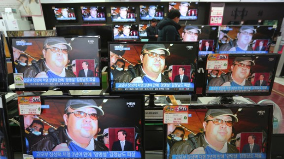 Reports about Kim Jong Nam's death inundate South Korean TV screens Wednesday in Seoul.