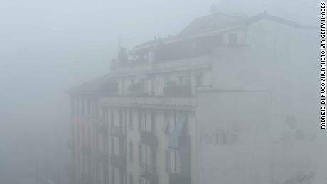 Levels of particulate matter breached EU limits in the Italian city of Milan in December.