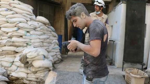 "Khaled Khatib worked on the Oscar-nominated documentary short ""The White Helmets."""