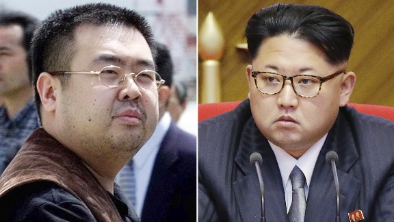 Kim Jong Nam, left, was the half-brother of North Korea's leader Kim Jong Un, right.
