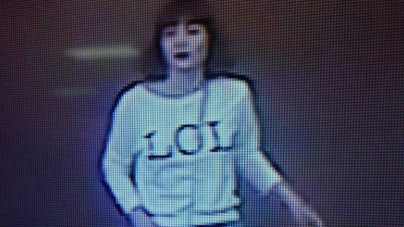 "This photo of closed circuit television footage shows a woman wearing a shirt with ""LOL"" on it in Sepang, Malaysia, on Monday, February 13. The woman is one of the female suspects who has been detained in connection with the death of North Korean leader Kim Jong Un's half-brother, Kim Jong Nam, Selangor State Police Chief Abdul Samah Mat with the Royal Malaysian Police told CNN"