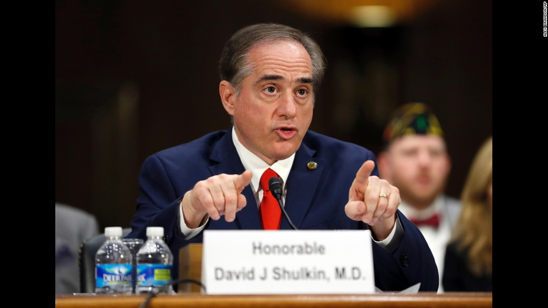"Shulkin speaks at his confirmation hearing. He was <a href=""http://www.cnn.com/2017/01/11/politics/david-shulkin-picked-to-head-department-of-veterans-affairs/"" target=""_blank"">the VA's undersecretary for health,</a> a position in which he oversaw more than 1,700 health care sites across the United States."