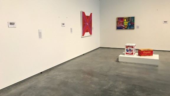 """""""Made by an immigrant"""" labels now line the walls of the Davis Museum."""