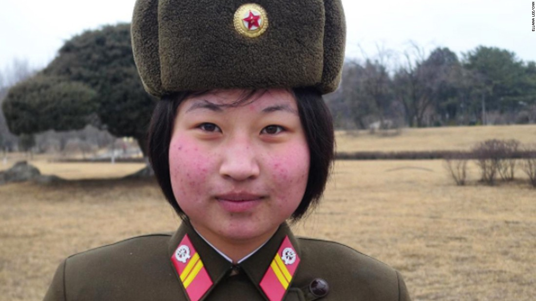 A soldier stands guard in North Korea on February 16. While military service for women has long been voluntary, it reportedly was made mandatory recently in a bid to bolster the armed forces.