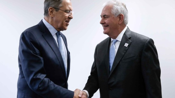 Russian Foreign Minister Sergey Lavrov meets with US Secretary of State Rex Tillerson in Bonn.