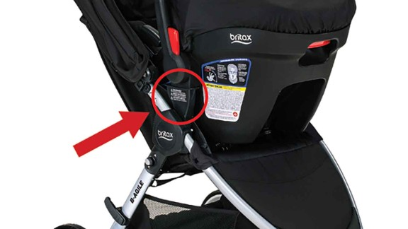 Nearly 361,000 toddlers were treated in hospitals for injuries caused by falls or tip-overs from 1990 to 2010, according to a study in Academic Pediatrics.  In February, Britax recalled 676,000 B-Agile and BOB Motion strollers sold in the United States due to possible fall hazard when used as a travel system. An additional 41,100 strollers were sold in Canada and Mexico. The company had received reports of 26 injuries to children.  To help avoid injuries, parents should buckle their children into stollers and carriers and make sure they're seated, avoid hanging items from handles, make sure the stroller or carrier is appropriately sized, lock the stroller when parked and check Recalls.gov.