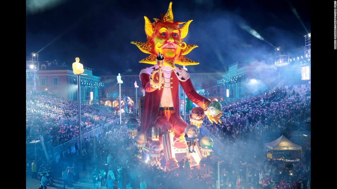 Carnival is celebrated in Nice, France, on Saturday, February 11.