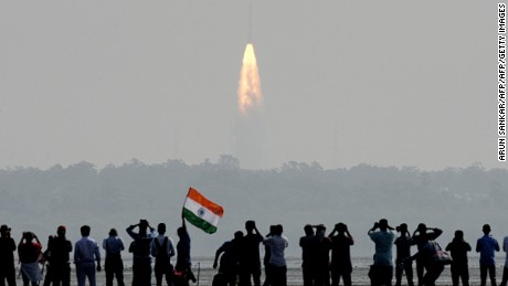 India successfully put a record 104 satellites from a single rocket into orbit on February 15 in the latest triumph for its famously frugal space agency.