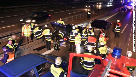 A man in Germany damaged his Tesla after coming across an unconscious driver on the Autobahn.