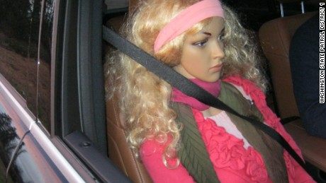 Driver caught using mannequin in HOV lane