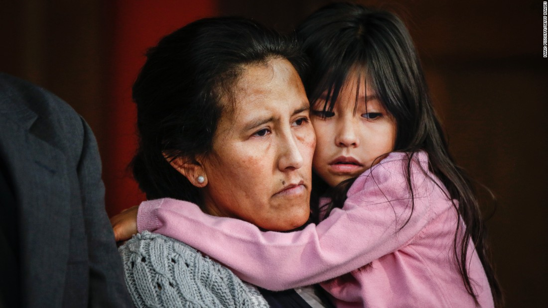 "Jeanette Vizguerra hugs her youngest child, Zury, while addressing supporters and the media from a church in Denver on Wednesday, February 15. Vizguerra, an undocumented immigrant from Mexico, first came to the United States in 1997. In 2011, a federal immigration judge ordered that she be deported. Her latest request for a stay of deportation was denied on Wednesday, but she said during her news conference that her ""fight will continue."" <a href=""http://www.cnn.com/2017/02/15/us/colorado-mom-vizguerra-ice-trnd/index.html"" target=""_blank"">Her case</a> has drawn national attention as the debate continues over immigration reform."