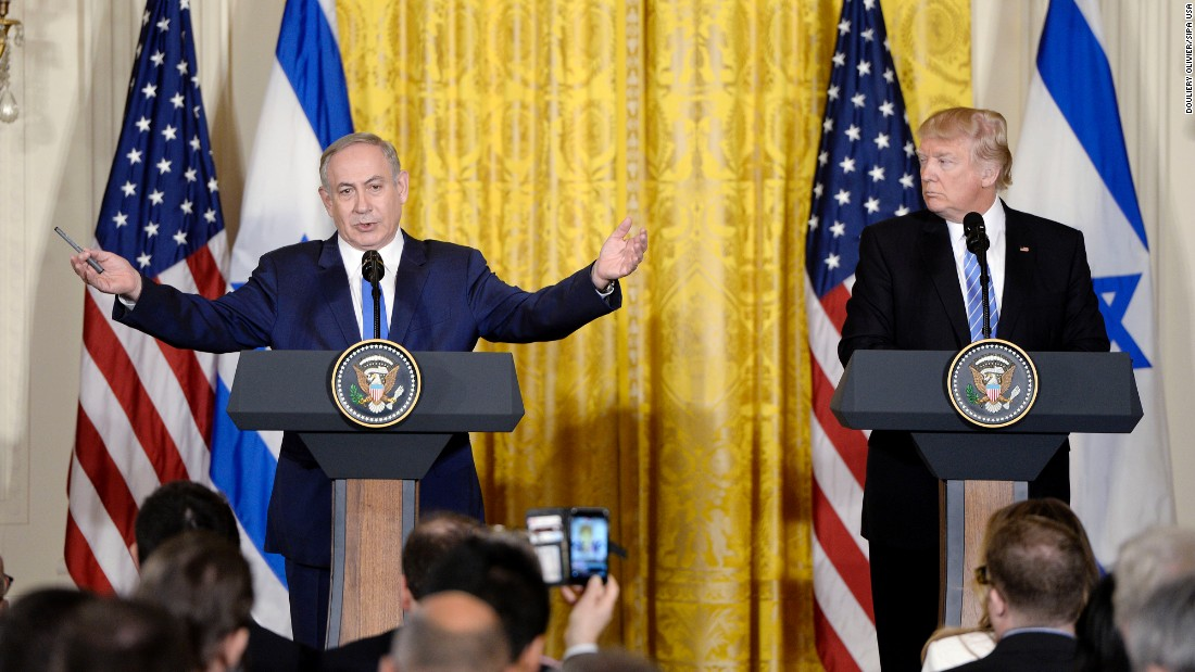 "President Trump and Israeli Prime Minister Benjamin Netanyahu hold <a href=""http://www.cnn.com/2017/02/15/politics/netanyahu-trump-white-house-visit/"" target=""_blank"">a joint news conference at the White House</a> on Wednesday, February 15. Netanyahu beamed at his new American counterpart and declared him the best friend Israel could possibly wish for, while Trump offered lofty praise for Israel, denounced the Iranian nuclear deal and declined to back a two-state solution -- a long-standing, bipartisan US policy that the Israeli Prime Minister has questioned."