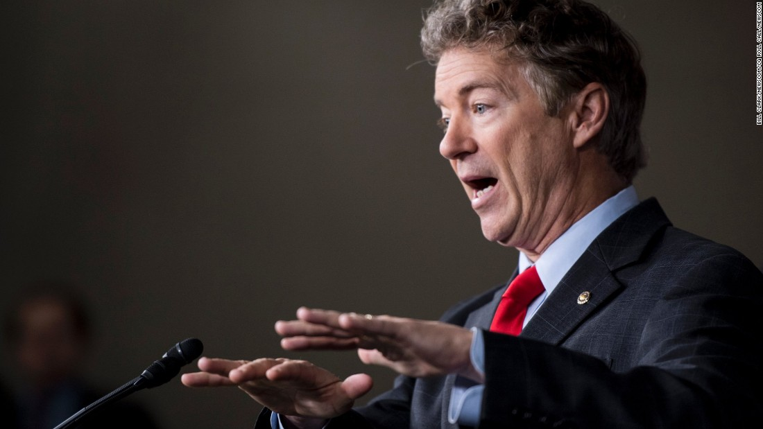 "US Sen. Rand Paul speaks at a news conference about an Obamacare replacement bill on Wednesday, February 15. The conservative House Freedom Caucus officially endorsed the bill, which was introduced by Paul and US Rep. Mark Sanford. <a href=""http://www.cnn.com/2017/02/14/politics/rand-paul-mark-sanford-obamacare/index.html"" target=""_blank"">First on CNN: Details about the bill</a>"