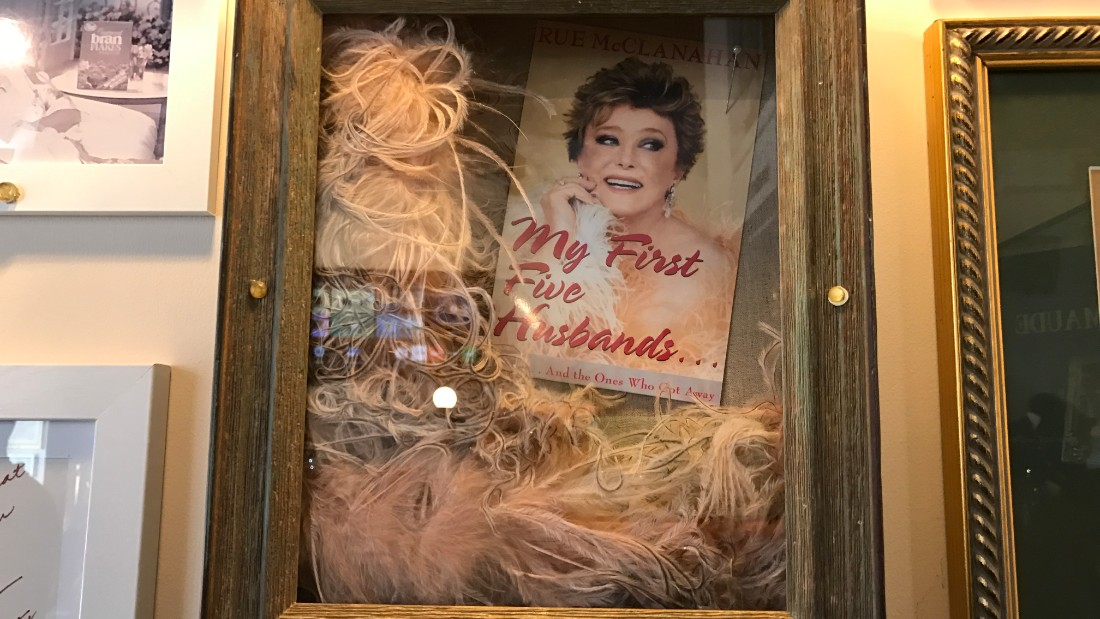 Artifacts from the career of actress Rue McClanahan adorn the walls of the Rue La Rue Café.