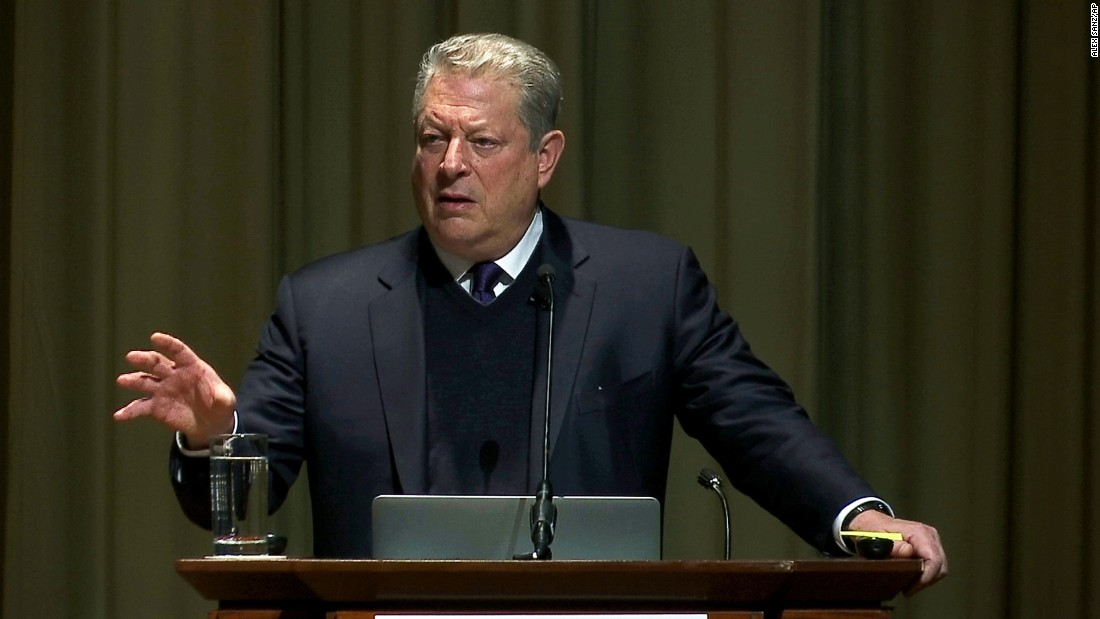 Former Vice President Al Gore, the founder and chairman of The Climate Reality Project, opens the Climate & Health Meeting at The Carter Center in Atlanta on Thursday, February 16. The conference, which was organized after the Centers for Disease Control and Prevention canceled its own conference on climate change and health, brought together scientists, public health officials and health care providers.