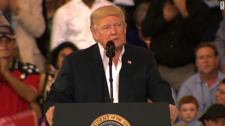 President Trump starts rally attacking media