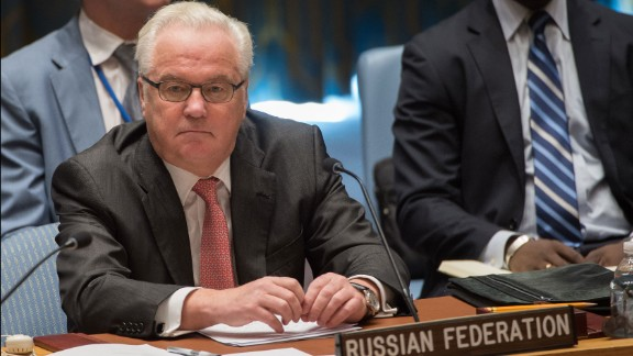 Russian Ambassador to the UN, Vitaly Ivanovich Churkin, at the United Nations September 25, 2016 in New York.