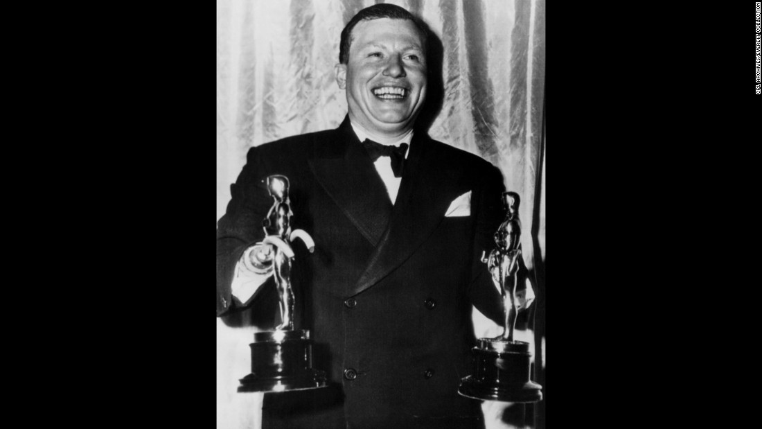 """...I'd like to accept this trophy in the name of all those thousands of disabled veterans who are laying in hospitals all over the country."" -- Actor Harold Russell, accepting a special award at the 19th Academy Awards on March 13,1947. Russell, a disabled veteran of World War II, won two awards that night -- one for his performance in the 1946 movie ''The Best Years of Our Lives"" and an honorary statue."