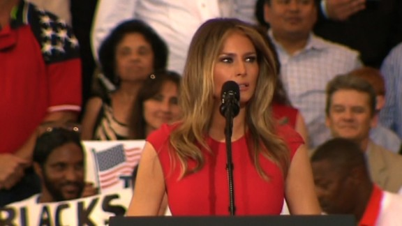 First lady Melania Trump at a rally