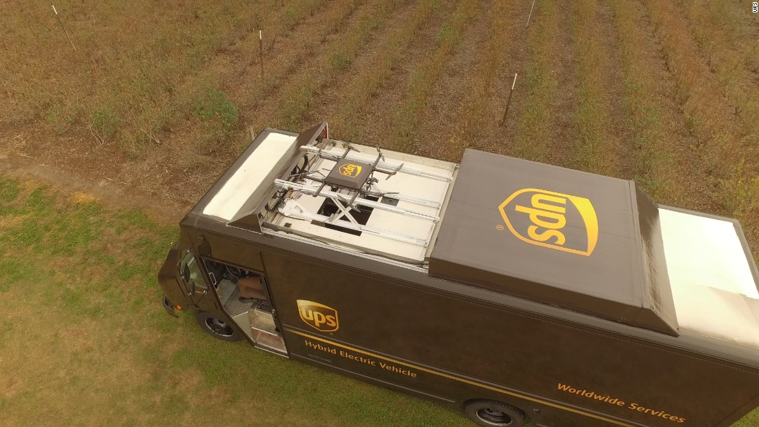 "Amazon  isn't the only delivery company dipping into drones. UPS demonstrated a human-drone tag team system with integrated storage and launch facilities built into one of their iconic brown vans. <a href=""http://money.cnn.com/2017/02/21/technology/ups-drone-delivery/index.html""><strong>Read more.</a></strong>"