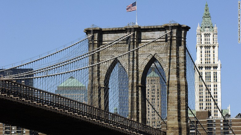 New York's Brooklyn Bridge, which opened in 1883, is considered structurally deficient, according to the American Road and Transportation Builders Association.