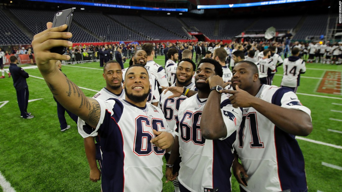 "Some of the New England Patriots take a selfie at Houston's NRG Stadium on February 4. The next day, the team won <a href=""http://www.cnn.com/2017/02/05/sport/gallery/super-bowl-li/index.html"" target=""_blank"">Super Bowl LI.</a>"