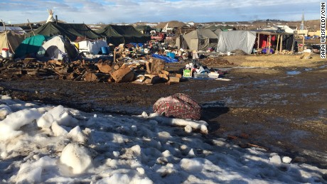 A few protesters have remained at camps near Cannon Ball, North Dakota.