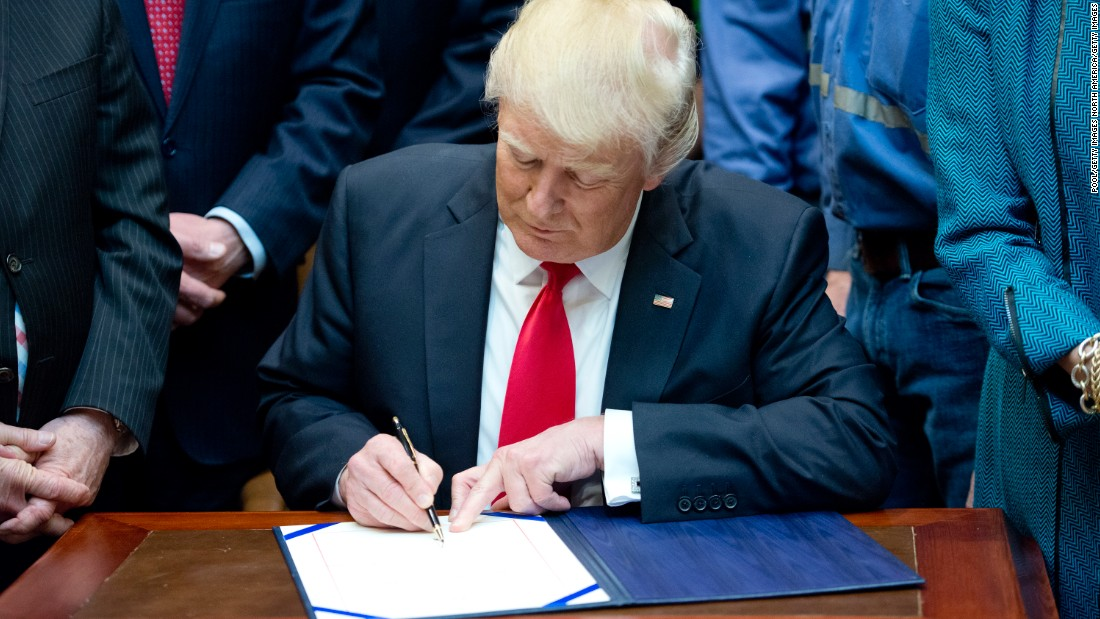 In his first year in office, President Donald Trump signed 117 bills into law, but few represented major legislative achievements.