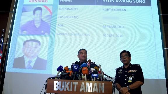 Royal Malaysian Police Inspector-General Khalid Abu Bakar addresses journalists on Wednesday, February 22.