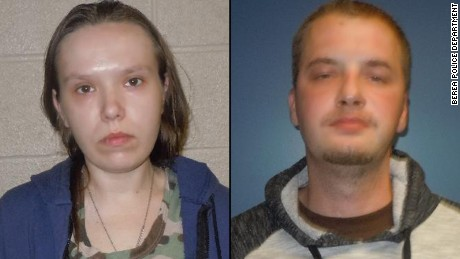 Danielle Simko, 31, and Charles Dowdy, 32. Both face child endangerment and drug charges.