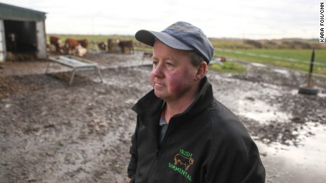 John Flanagan, a local cow farmer, has lived in Doonbeg all his life. His farm sits behind the course and is worried if the wall isn't built, his land will flood in the next 20 years.