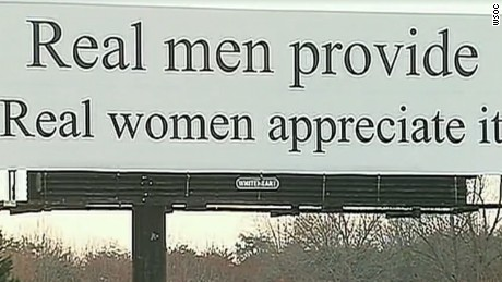 This billboard along an interstate near Winston-Salem, North Carolina, is being called sexist.