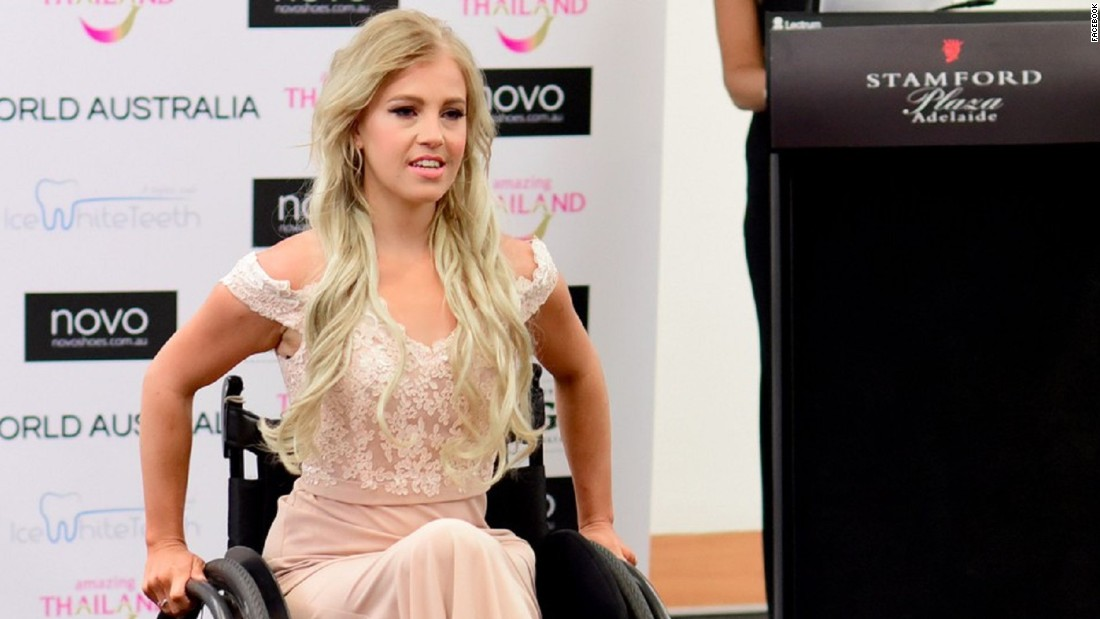 Contestant In A Wheelchair Is A First For Miss Australia