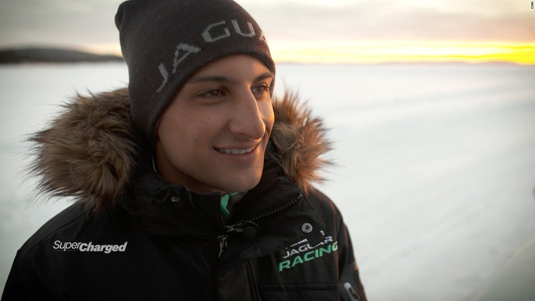 Jaguar Racing driver Mitch Evans traveled more than 10,000 miles from his home in New Zealand to northern Sweden.