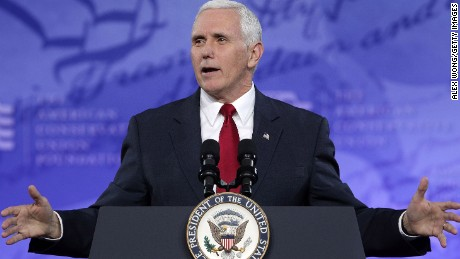 Vice President Mike Pence speaks during the Conservative Political Action Conference at the Gaylord National Resort and Convention Center February 23, 2017 in National Harbor, Maryland.