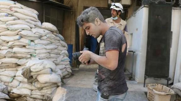 "Khaled Khatib worked on the Oscar-winning documentary short ""The White Helmets."""